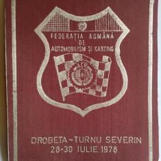 FEDERATIA ROMANA DE AUTOMOBILSM - ACR - DROBETA - TURNU SEVERIN 1978  Fanion