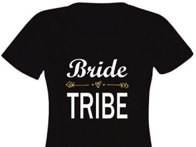 Tricou personalizat pentru Domnisoare de Onoare - Bride Tribe EM1107_D foto