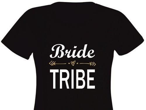 Tricou personalizat pentru Domnisoare de Onoare - Bride Tribe EM1107_D