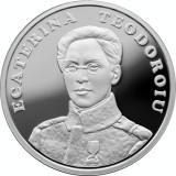 Romania 10 Lei 2017 - Ecaterina Teodoroiu, Argint 31.1/999, 37mm, Proof, UNC !!!