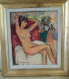 Ion MUSCELEANU,Nud,ulei/carton, Impresionism