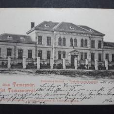 TIMISOARA - ANUL 1899 - SCOALA DE SURDOMUTI - CLASICA, Circulata, Fotografie