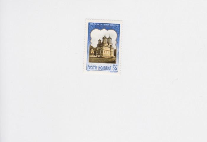 LP 659, 450 de ani de la zidirea Manastirii de Arges, MNH foto mare