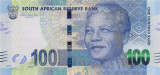 AFRICA DE SUD █ bancnota █ 100 Rand █ 2014 █ P-141a █ UNC █ necirculata