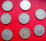 Monede   2 Mark.  lot   8   buc, Europa, Cupru-Nichel
