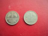 Monede   1 Mark.  lot   2   buc, Europa, Cupru-Nichel
