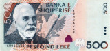 ALBANIA █ bancnota █ 500 Leke █ 2015 █ P-72b █ UNC █ necirculata