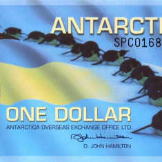 ANTARCTICA █ bancnota █ 1 Dollar █ 2011 RFS █  UNC █ necirculata █ polymer