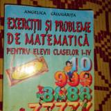 Exercitii si probleme de matematica clasele 1-4 468pagini- Calugarita