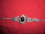 Bratara argint 925 in filigram cu onix