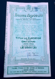 Actiuni Banca Agricola - Valoare nominala 2500 lei - Rara