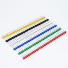 Bareta pini 2.54mm tata ( culoare: VERDE ) / 1x40 pin header male Arduino