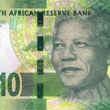 AFRICA DE SUD █ bancnota █ 10 Rand █ 2015 █ P-138b █ UNC █ necirculata