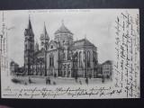 TIMISOARA - ANUL 1900 - BISERICA ROMANO CATOLICA - LITOGRAFIE - CLASICA, Circulata, Fotografie