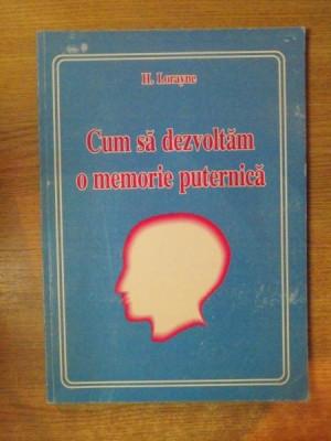 CUM SA DEZVOLTAM O MEMORIE PUTERNICA DE H. LAROYANE , 2005 foto