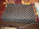 Material bumbac negru cu picatele albe 23mm, pentru fusta etc. (140x170)cm, NOU, 46