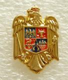 Y599 INSIGNA NOUA STEMA CU COROANA A ROMANIEI, Romania de la 1950