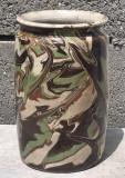 Nr 579 Ceramica transilvaneana veche, vas sasesc cu lacatura.
