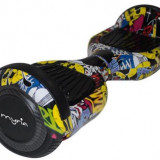 Scooter electric (hoverboard) Myria MY7002, Geanta inclusa (Graffiti Galben)