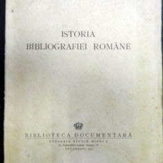 Istoria bibliografiei romane Barbu Theodorescu