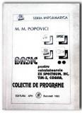 Basic pentru calculatoarele ZX Spectrum HC90 TIM-S Cobra CIP JET M. M. Popovici
