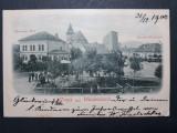 GHIMBAV - WEIDENBACH - BRASOV - ANUL 1900 - ANIMATIE - CIRCULATA  BRASOV - RARA, Fotografie