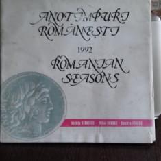 ANOTIMPURI ROMANESTI - CALENDAR 1992 - NICHITA STANESCU, MIHAI BANDAC, DUMITRU FARCAS