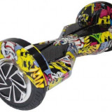 Scooter electric (hoverboard) Myria F1 MY7003, Geanta inclusa (Graffiti Galben)