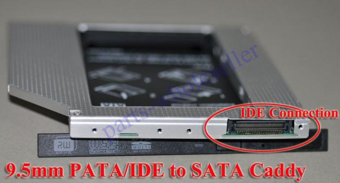 9.5mm IDE-Sata 2nd HDD, caddy SSD / HDD, adaptor rack SSD / HDD.