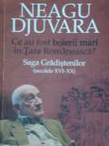 CE AU FOST BOIERII MARI IN TARA ROMANEASCA, SAGA GRADISTENILOR SEX XVI- XX de NEAGU DJUVARA