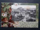 SIGHISOARA - ANUL 1901 - LITOGRAFIE - CLASICA - CIRCULATA SIGHISOARA - BRASOV, Fotografie