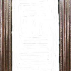 Oglinda veche cu colt rotund