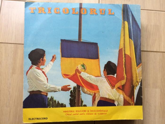 tricolorul cantece patriotice disc vinyl lp muzica corala pionieri cor cs 102