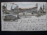 BISTRITA - ANUL 1898 - LITOGRAFIE - CLASICA - CIRCULATA BISTRITA - BRASOV, Fotografie