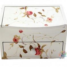 Cutie pentru bijuterii cu oglinda si sertar