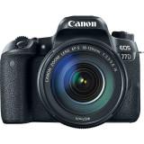 Aparat foto DSLR EOS 77D, 24.2MP, Wi-Fi, Negru + Obiectiv EF-S 18-135 f/3.5-5.6 IS, Canon