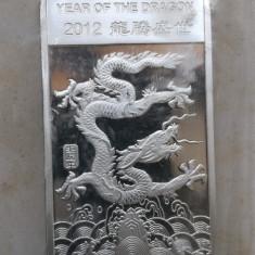 SUA - Lingou 15.55 gr ( 1/2 oz ) Argint 99.99 - Anul Dragonului 2012, America de Nord