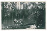 3870 - CRAIOVA, Romania, Bibescu Park - old postcard, real PHOTO - unused