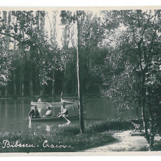 3870 - CRAIOVA, Romania, Bibescu Park - old postcard, real PHOTO - unused, Necirculata, Fotografie