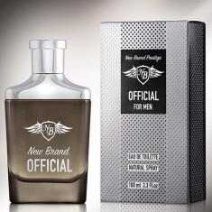 Parfum New Brand Official Men 100ml EDT, Apa de toaleta, 100 ml