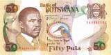 BOTSWANA █ bancnota █ 50 Pula █ 1992 █ P-14 █ UNC █ necirculata
