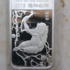 SUA - Lingou 31.101 gr ( 1 oz ) Argint 99.99 - Anul Maimutei 2016, America de Nord