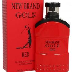Parfum New Brand Golf Red Men 100ml EDT, Apa de toaleta, 100 ml