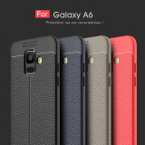 Husa / Bumper Antisoc model PIELE pentru Samsung Galaxy A6 (2018)