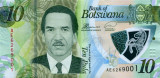 BOTSWANA █ bancnota █ 10 Pula █ 2018 █ UNC █ necirculata polimer