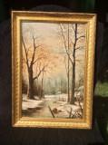 PEISAJ IARNA -SEMNAT Alfred Anderson., Natura, Ulei, Realism