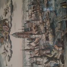 Tablou / gravura foarte veche Mattheus Merian
