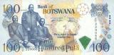 BOTSWANA █ bancnota █ 100 Pula █ 2000 █ P-23 █ UNC █ necirculata