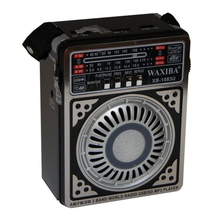 Radio MP3 portabil Waxiba XB-1083U, suport card SD/USB