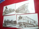 Set 4 Fotografii Locomotive Romanesti vechi Ed. 1994